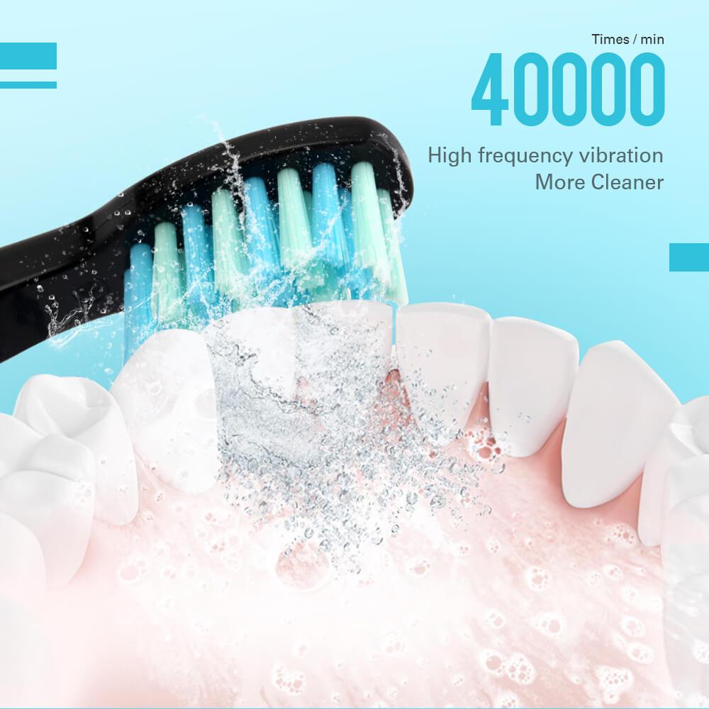 AZDENT AZ-9Pro Ultrasonic Electric Toothbrush 5 Modes USB Rechargeable Teeth Brush Deep Cleaning Teeth Whitening Brush Adult Kid enlarge