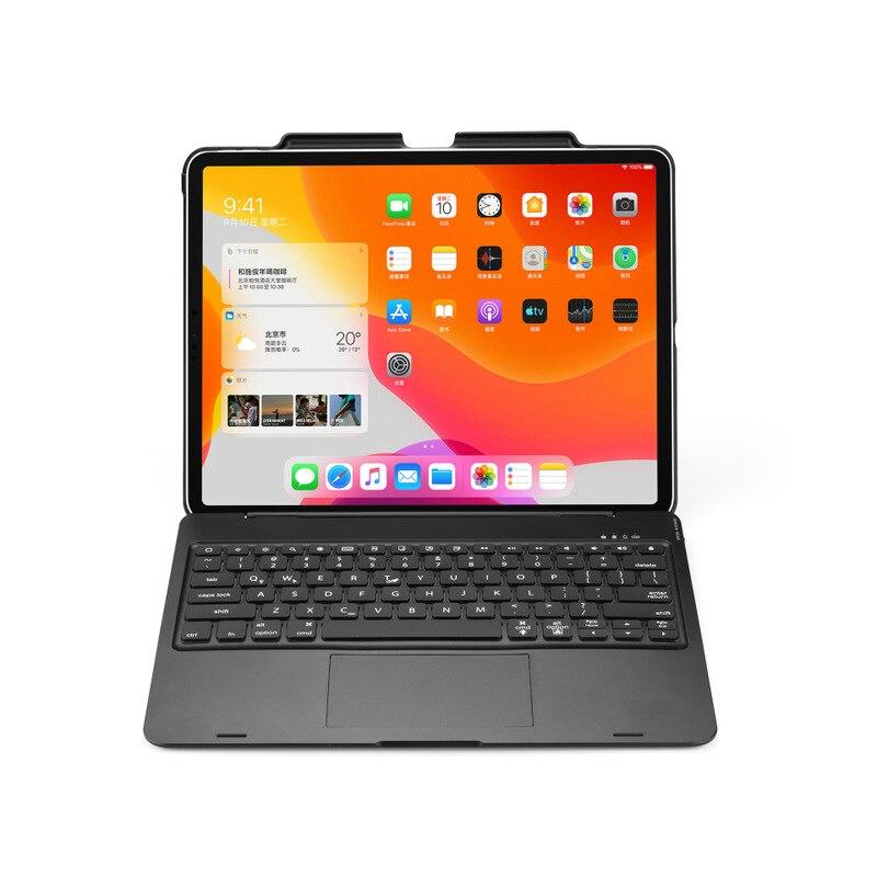 سماعة لاسلكية تعمل بالبلوتوث الإنجليزية لوحة المفاتيح حافظة لجهاز iPad برو 12.9 بوصة 2020 قابلة للشحن لوحة المفاتيح مع القلم فتحة شحن تراكباد