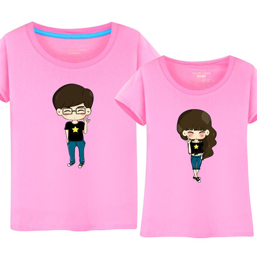 Camiseta de algodón CP para mujer y hombre, camiseta de manga corta con cuello redondo informal de verano coreana