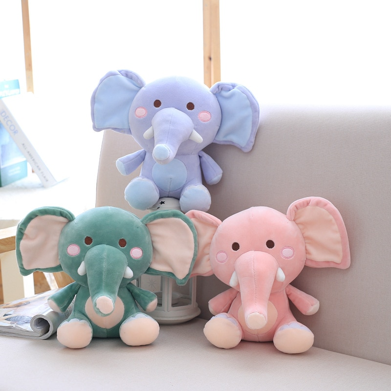 Новинка 2021, мультяшный милый розовый слон, плюшевая игрушка, мягкая плюшевая кукла в виде животного, милые мягкие плюшевые игрушки, подарок ...