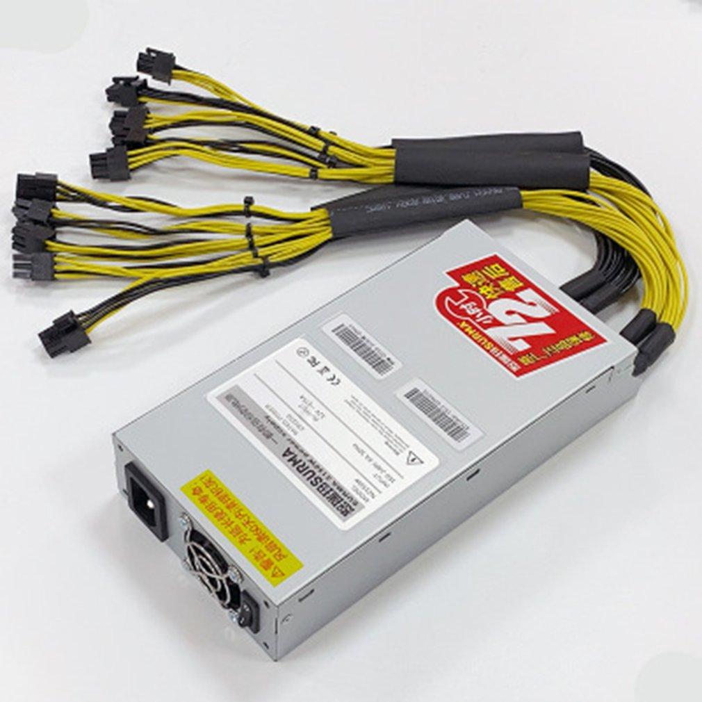 2500 واط مينر امدادات الطاقة 95% عالية الكفاءة واحدة 12 فولت 10 * 6Pin الحد الأدنى حجم امدادات الطاقة دعم E9 + S9i L3 +