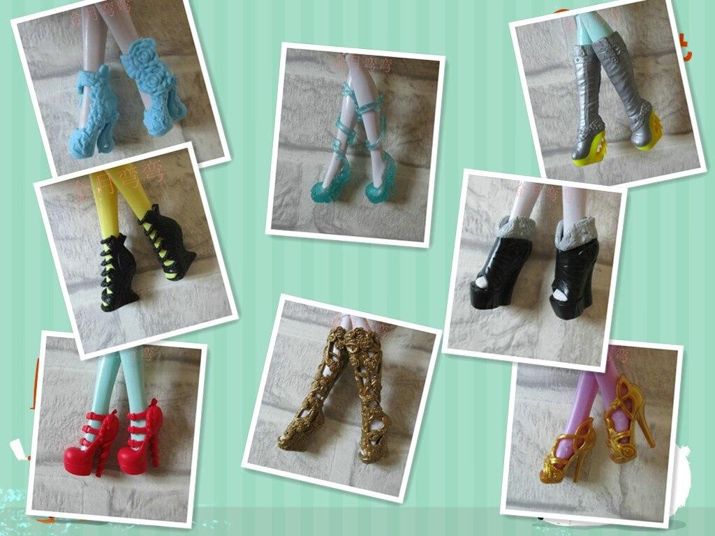 Zapatos bonitos de Monster high school, zapatos de muñeca, muchos tipos de regalo para niña