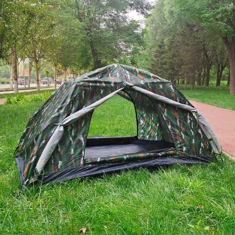 Free Shipping Outdoor Single Double-Sided Ventilated Anti-mosquito Double Layer Automatic Quick-opening Tabby Camouflage Tent