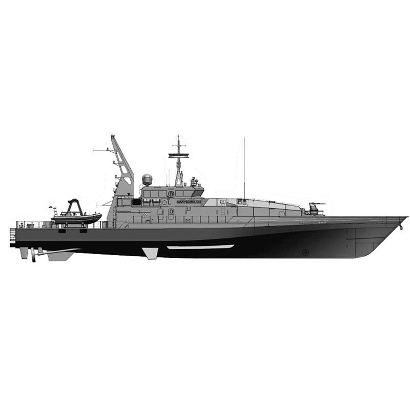 1/35 1620mm 1/35 Armidale 83 Armidale-class قارب دورية للتحكم عن بعد لتقوم بها بنفسك