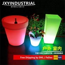 Changement de couleur pots de fleurs modifiables pots colorés/vente directe dusine 16 LED à couleur changeante Pots de fleurs planteur lumineux