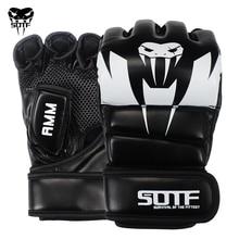 Adulte MMA gants Muay Thai PU cuir KickBoxing gants serpent double Fitness boxe Sparring mitaines tigre gymnastique entraînement combat gants