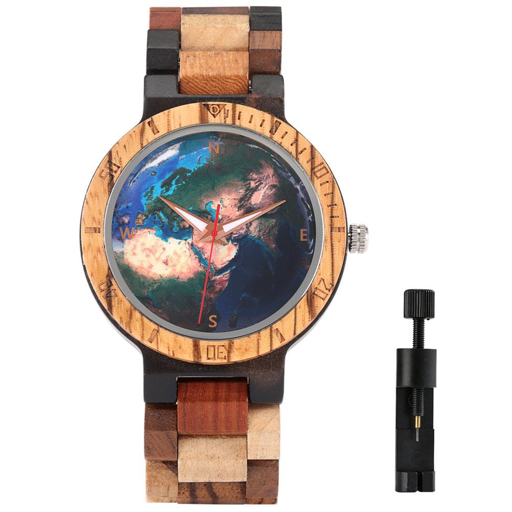 2021 Модные мужские кварцевые деревянные наручные часы, простые деловые мужские часы с деревянным ремешком, наручные часы, браслет с застежко...
