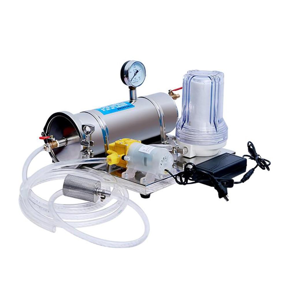التيار المتناوب 100-240 فولت التلقائي مرشح نبيذ الخمور آلة الشيخوخة المنزلية ماكينة ترشيح الفولاذ المقاوم للصدأ معدات تخمير 300 كجم/ساعة