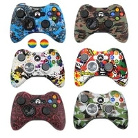 silicone case cover for xbox 360 gamepad soft rubber shell cover for xbox360 controller gel caps accessories thumb grips
