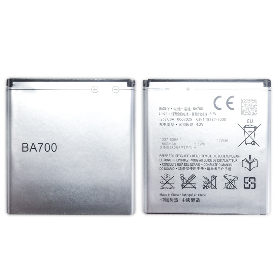 BA700 la batería de Li-Ion 1500mAh para Sony Ericsson MT11i MT15i MK16i...