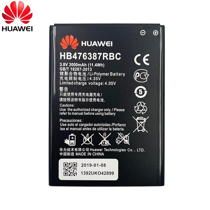 100% Original Hua Wei HB476387RBC Battery For Huawei Honor 3X G750 B199 Replacement Phone Batteria 3000mAh Real Capacity