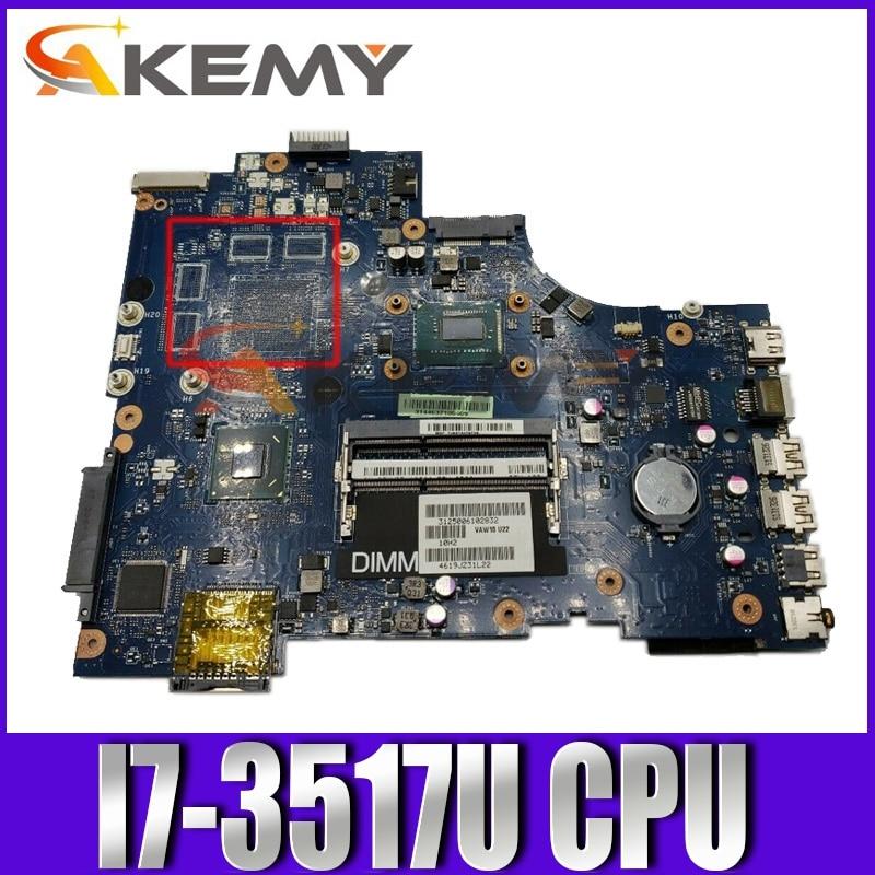 الأصلي اللوحة الأم لأجهزة الكمبيوتر المحمول ديل انسبايرون 17R 3721 5721 اللوحة الرئيسية CN-0WTY0Y 0WTY0Y LA-9102P وحدة المعالجة المركزية I7-3517U