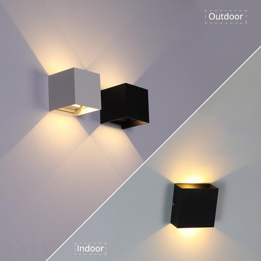 6W/10W LED Wall Light Outdoor Waterproof IP65 Porch Garden Wall Lamp & Indoor Bedroom Bedside Decora
