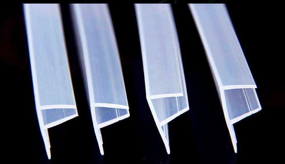 6 8 10 12 مللي متر زجاج الأختام فرملس باب حمام نافذة ستارة للشرفة ختم قطاع السير الوقائي مشروع سدادة 5 متر كبير F