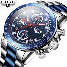 2020 New Watch Men LIGE Fashion Classic Quartz Clock Mens Watches Top Brand Luxury Business Waterproof Watch Relogio Masculino