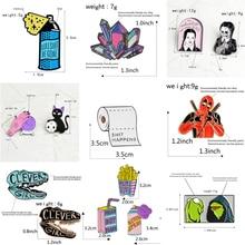 Sac à main broche en métal   1 pièce, broches de col, broches de chemise en jean, Badges en alliage sur sac à dos, vêtements, épingle de dessin animé