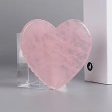 Rose Quartz Heart Sawtooth Face Gua Sha Tool Skin Care Body Eye Natural Crystal Mineral Stone Massag