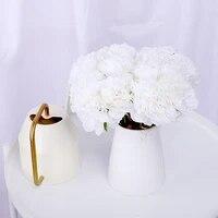 Bouquet de pivoines artificielles  5 pieces  fausses fleurs blanches  pour decor de mariage  Arrangement de scenes dautomne  bon marche