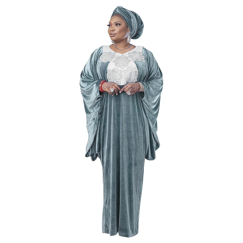 Ramadan Muçulmano Veludo Bordado Abaya Africano Dashiki Vestido Cardigan Árabe Islâmico Hijab Jalabiya Longo Robe Vestidos Mussulmane Eid