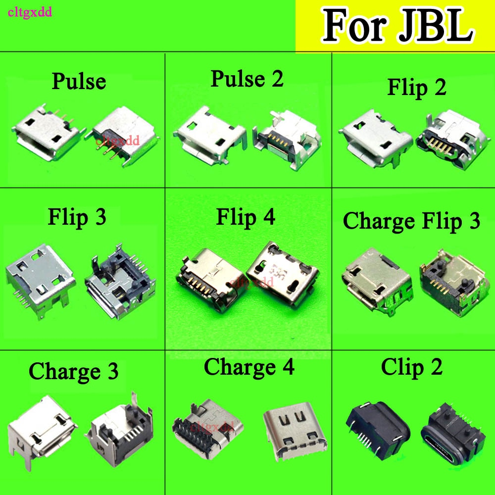 10pcs for JBL Charge 3 4 Flip 4 3 Pulse 2 5 flip4 clip2 Bluetooth Speaker Female 5Pin Micro USB Jack Charging Connector Socket