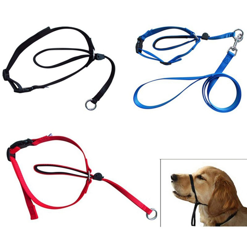 Pet Dog Head Collar Gentle Control Leash Leader Stop Pulling Training Tool No-Pull Painless Head Leash Collar Pet Products
