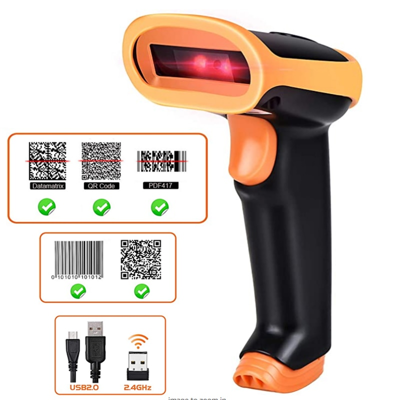 L8BL Bluetooth 1D/2D Barcode Reader And S8 QR PDF417 2.4G Wireless/Wired Handheld Barcode Scanner USB Support Mobile Phone iPad