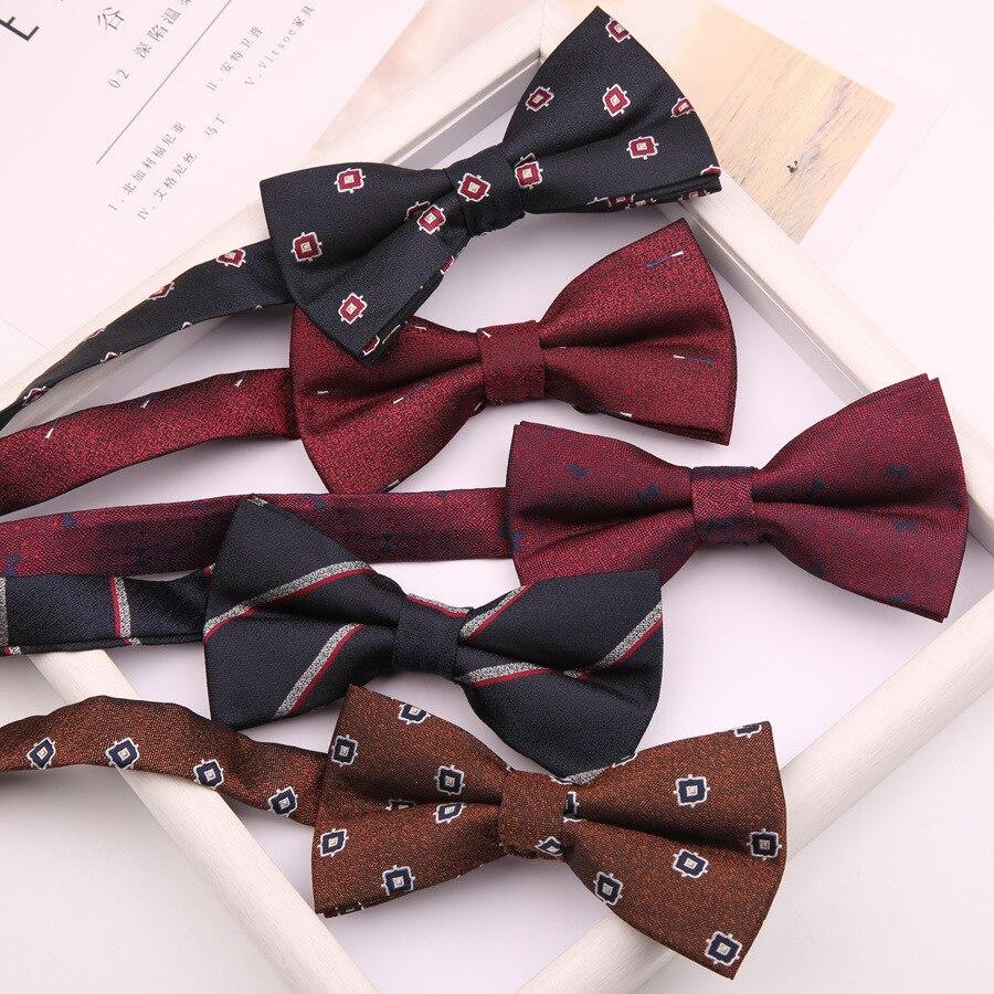 Linbaiway галстуки-бабочки из полиэстера с узором для мужской рубашки галстук-бабочка Галстуки для свадебной вечеринки деловые костюмы женские...
