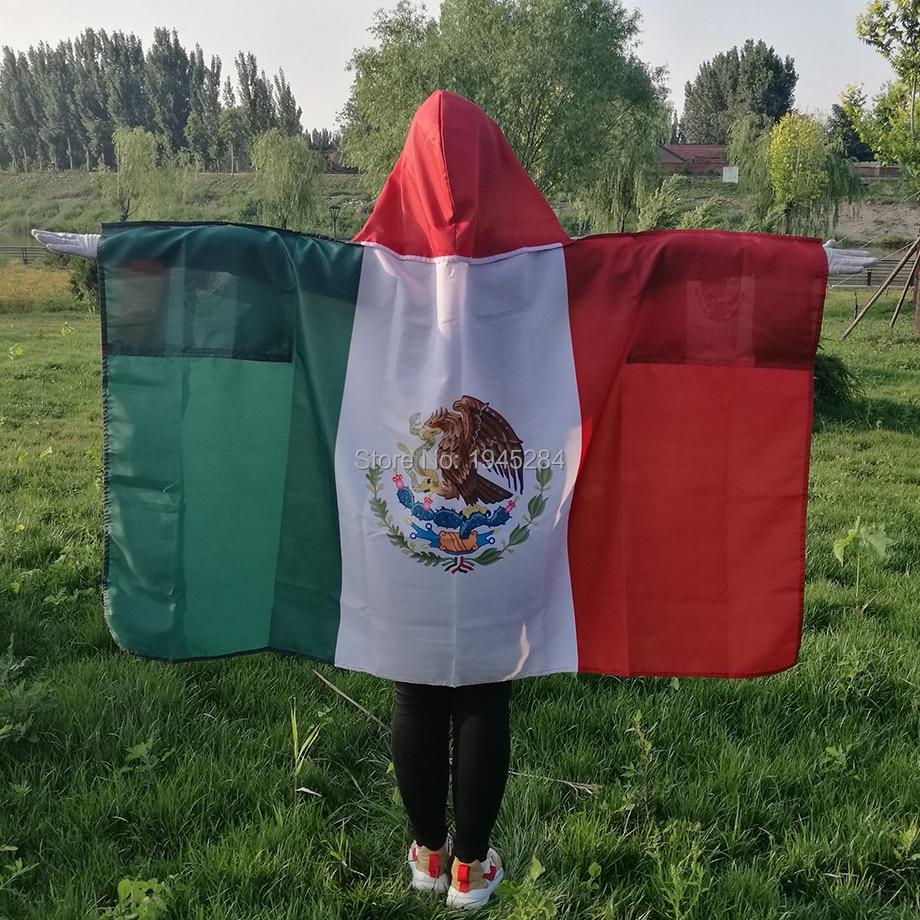 México bandeira do corpo do cabo bandeira 3x5ft poliéster mundo país bandeira cape esportes fãs bandeira do corpo, frete grátis