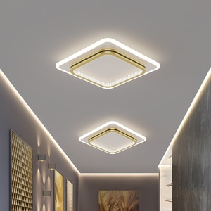 Nordic Minimalist Led Aisle Ceiling Lights for Corridor Cloakroom Creative Personality Iron Bedroom Balcony Lights with Crystal