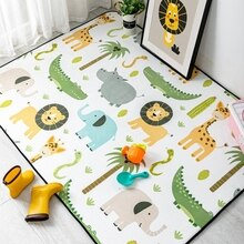 Cute Cartoon Animals Carpet and Rug For Living Room Soft Kids Room Decor Area Rugs Bedroom Children Play Tent Non-Slip Floor Mat