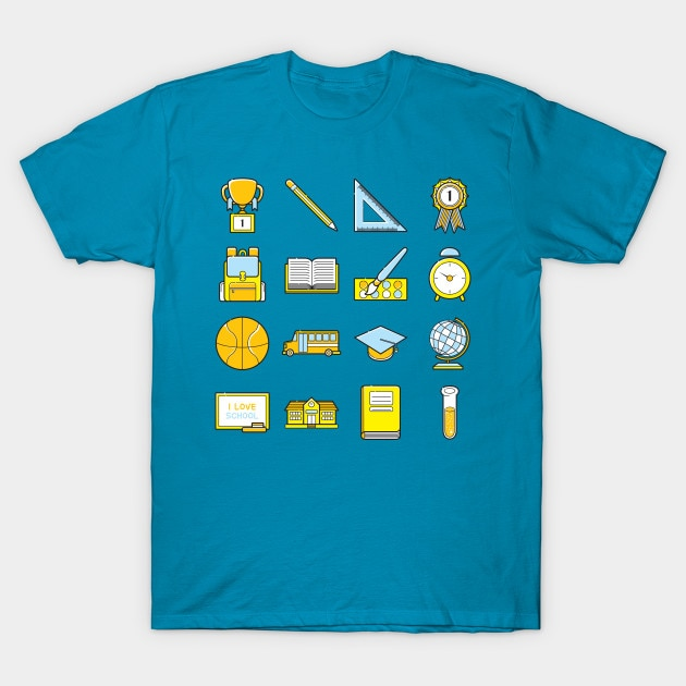 T-shirt homme retour à lécole icône t-shirt femmes t-shirt