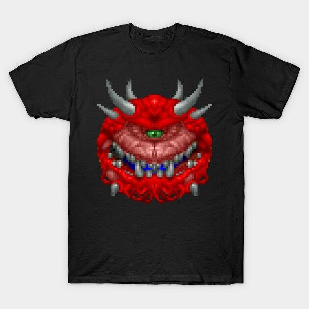 Мужская футболка Cacodemon Doom от allysontx (1) Футболка женская футболка