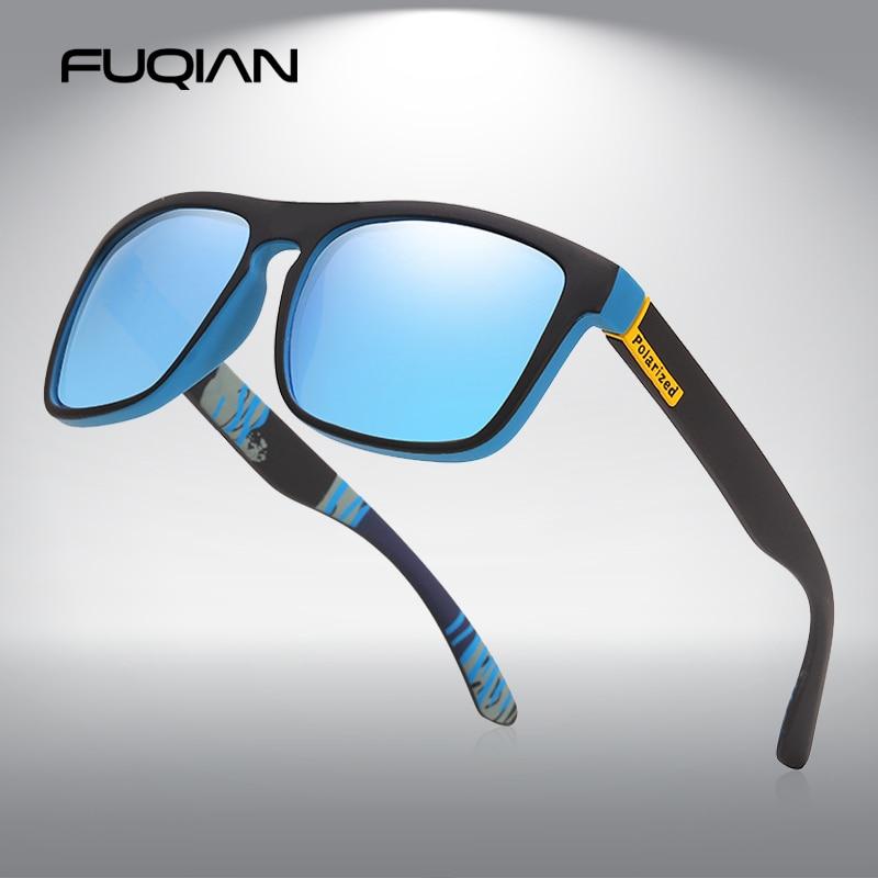 FUQIAN 2020 New Hiking Polarized Sunglasses Men Women Fashion Fishing Glasses Vintage Camping Drivin