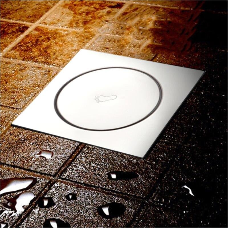 frap bathroom square floor drain bathtub shower drains floor strainer black floor drain cover plug hair catcher hardware y38093 10cm*10cm Drains Square Bathroom Shower Drain Strainer Waste Drainer Anti-odor Bath Shower Floor Drain Cover Stopper Shower