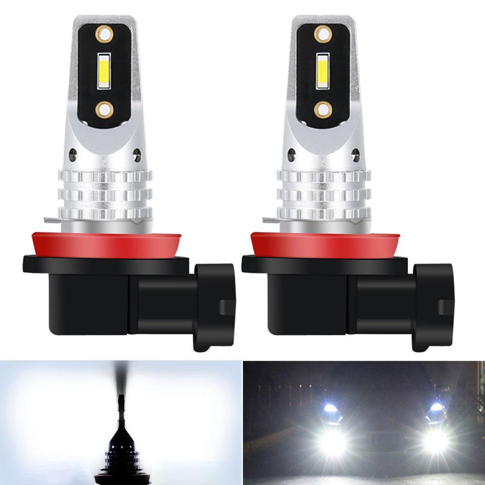 2x Canbus blanco H11 H8 bombillas LED de coche lámpara de luz de niebla de conducción bombilla para Skoda Octavia tableta amortiguador Tech accesorio beige Rojo Negro compruebe Tartan tableta amortiguador MK1 MK2 MK3 5E 1Z 1U A5 A7 (1996-2019)