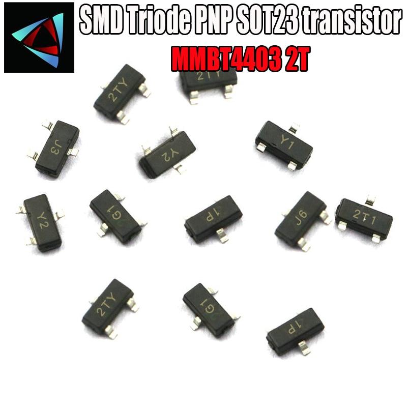100PCS MMBT4403  2N4403 2T NPN SMD SOT-23 Surface Mount SMD Triode PNP SOT23 transistor