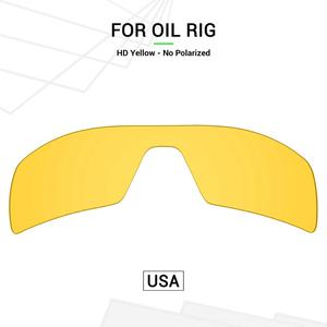 Mryok Polycarbonate Replacement Lenses (from USA) for Oakley Oil Rig Sunglasses HD Yellow