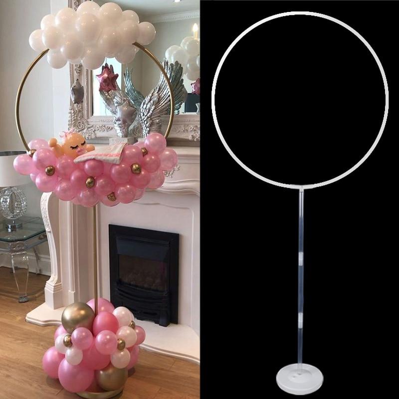2set de soporte de globo de círculo redondo soporte de marco de globo para columna soporte de arco decoración de arco para globos para Baby Shower decoraciones suministros de cumpleaños