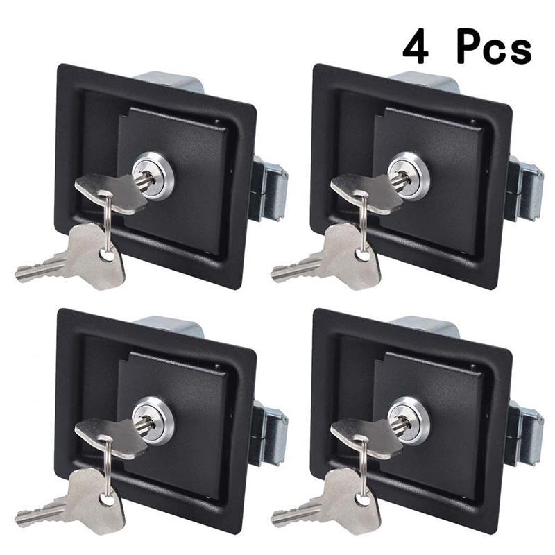 2/4set Trailer Tool Box Locks Anti-Theft Paddle Handle Locks Deadbolt Caravan Trailer Accessories For Car Truck RV