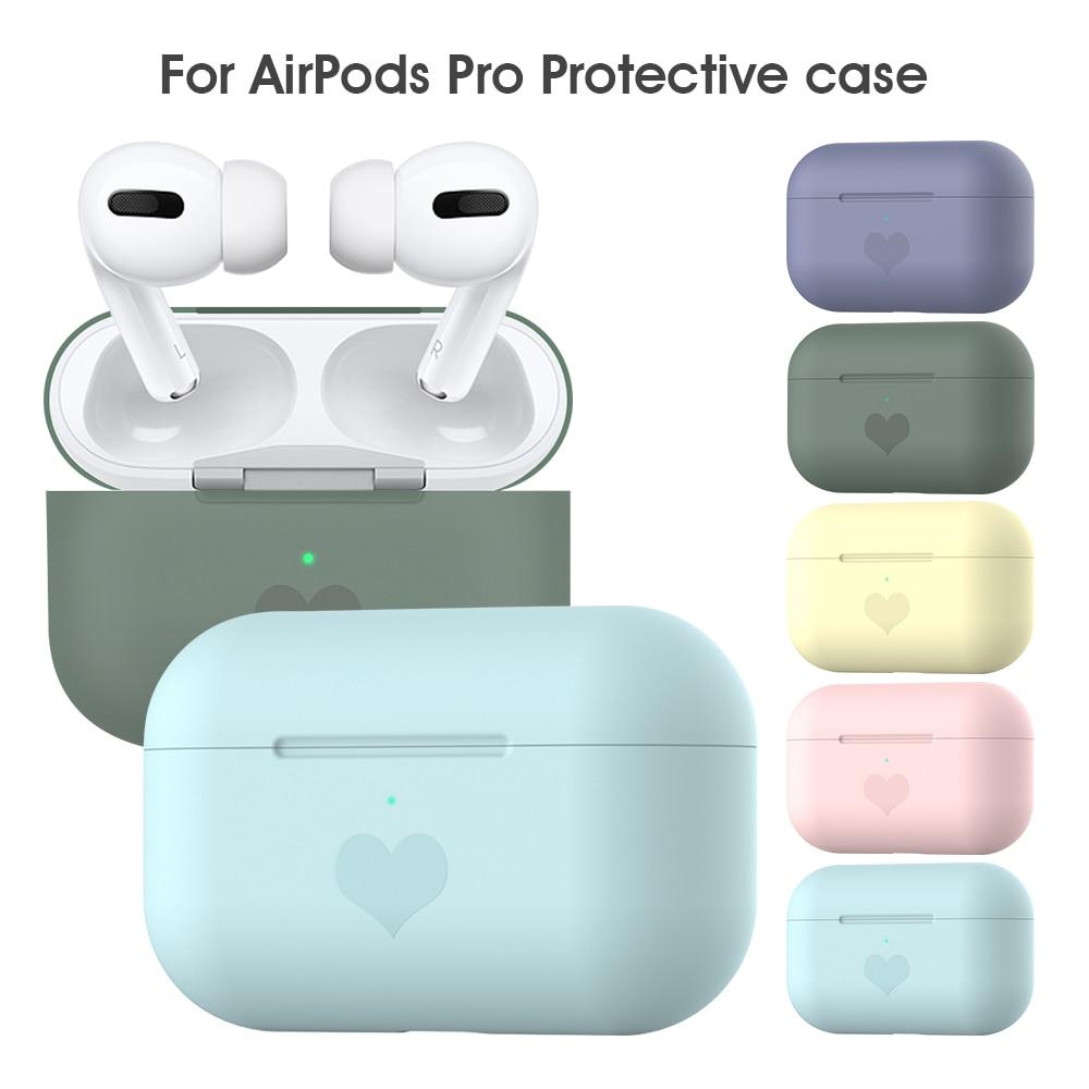 Tpu casos de silicone macio para airpods pro acessório protetor capa ultra fina titular à prova de choque para vagens ar pro proteção