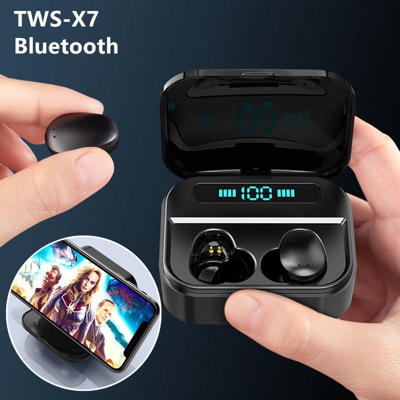 X7 TWS صحيح لاسلكي الترا بلوتوث صغير سماعة الرياضة سماعات التوائم ستيريو سماعة رأس مع ميكروفون سماعة للهواتف الذكية