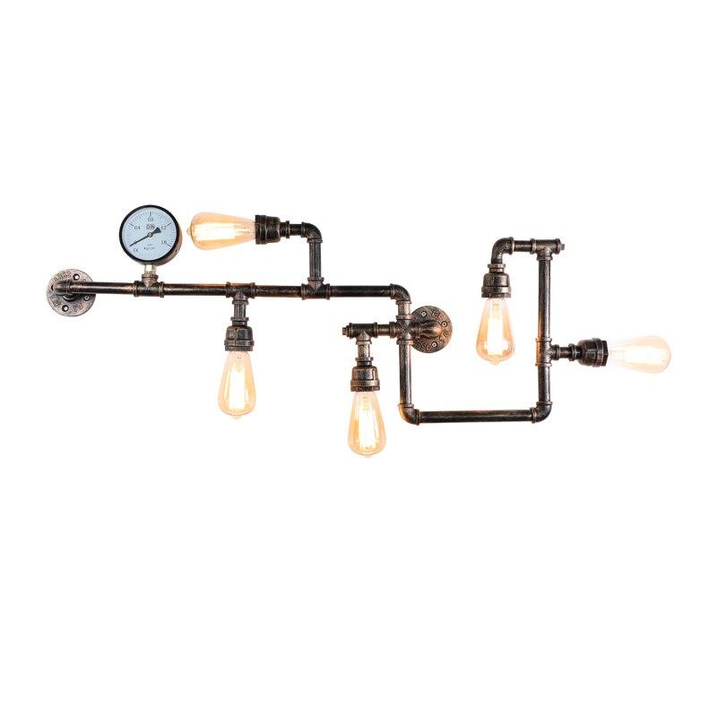 Креативная американская сельская промышленная ветряная лампа для кафе, настенная лампа из кованого железа для труб, восстановление древних способов