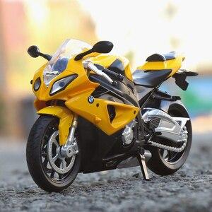 Модель автомобиля 1/12, модель мотоцикла 2S1000RR, литье под давлением, звук и светильник