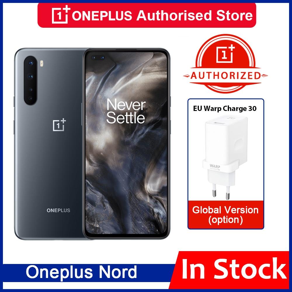 Перейти на Алиэкспресс и купить Оригинальный EU версия OnePlus Nord 5G Snapdragon 76 5G смартфон 8 ГБ 128 6,44 ''90 Гц активно-матричные осид, Экран 48MP четырехъядерный мобильный телефон