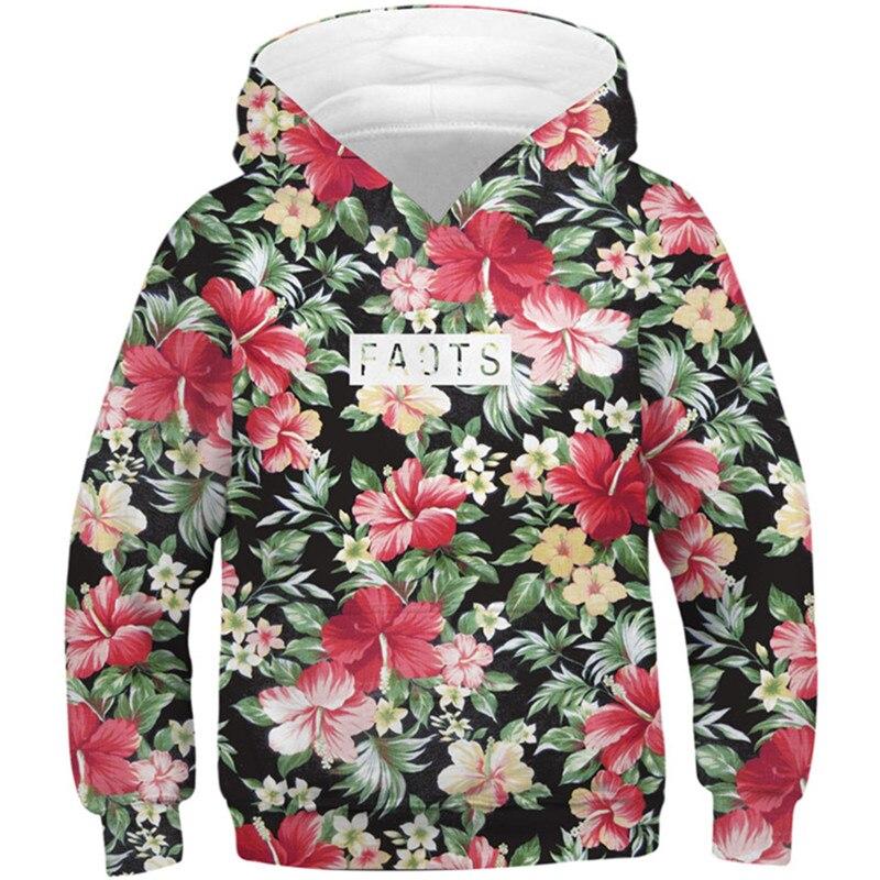 2020 de los niños de invierno nuevo 3D sudaderas con capucha hierba flor hechos impresión Niño/niña ropa de marca Hip Hop sudadera niños ropa de moda Tops
