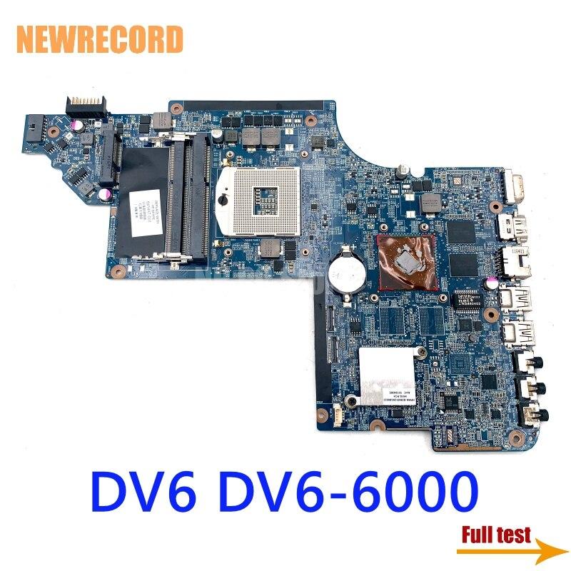 NEWRECORD 659998-001 665347-001 641487-001 659147-001 كمبيوتر محمول لوحة رئيسية لأجهزة HP DV6 DV6-6000 الرئيسي مجلس DDR3 HM65 512MB GPU