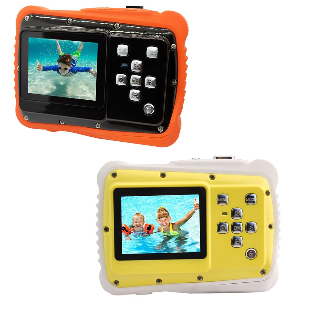 Mini cámara Digital WTDC para niños Cámara impermeable profesional 4x Zoom 1080P HD cámara portátil para niños con micrófono incorporado
