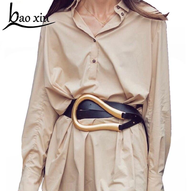 Ceinture en cuir forme de U pour femmes   Pour robe en or, avec boucle ardillon, accessoires décoratifs, 2020