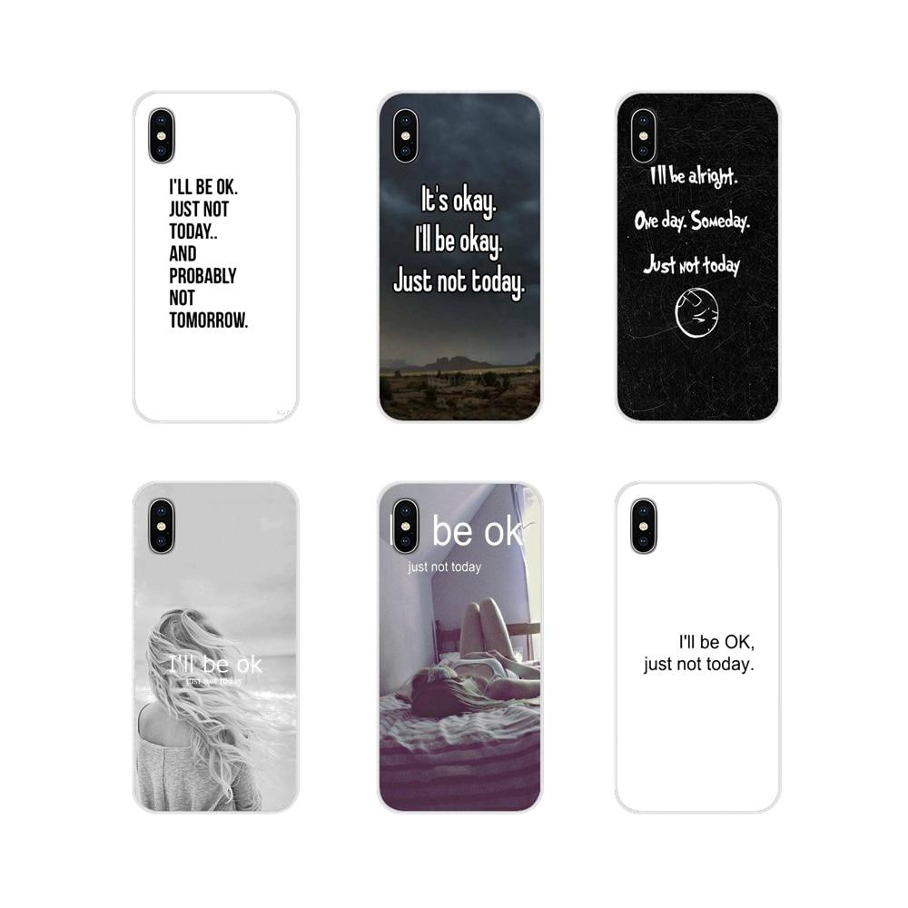 Funda de silicona para Samsung Galaxy S3 S4 S5 Mini S6 S7 borde S8 S9 S10 Lite Plus Nota 4 5 8 9 estoy bien, solo que hoy no son palabras divertidas