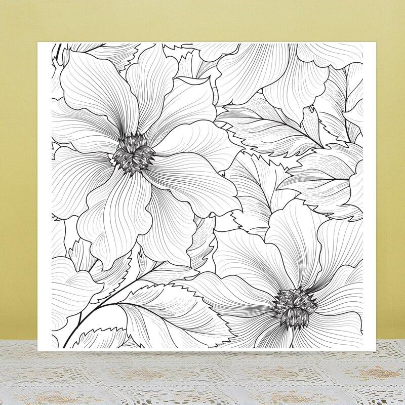 Azsg belas flores fundo claro selos para diy scrapbooking/cartão de fazer/álbum decorativo silicone selo artesanato